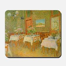Van Gogh Interior of a Restaurant Mousepad