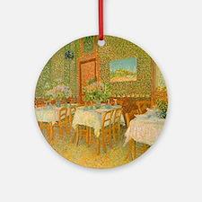 Van Gogh Interior of a Restaurant Ornament (Round)