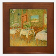 Van Gogh Interior of a Restaurant Framed Tile