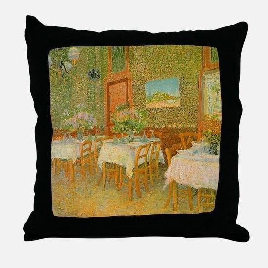 Van Gogh Interior of a Restaurant Throw Pillow
