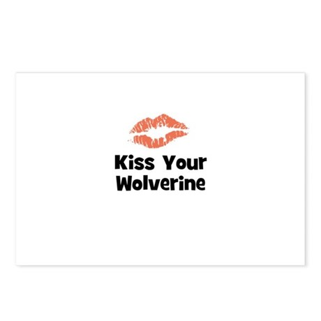 Kiss Your Wolverine Postcards (Package of 8)