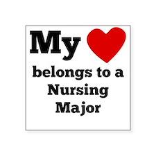 My Heart Belongs To A Nursing Major Sticker