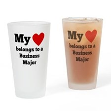 My Heart Belongs To A Business Major Drinking Glas