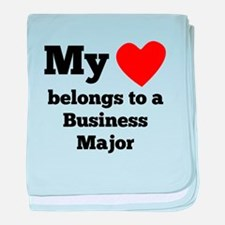 My Heart Belongs To A Business Major baby blanket