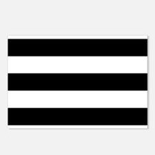 Black & White Stripes Postcards (Package of 8)