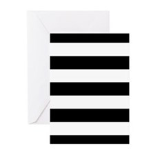 Black & White Stripes Greeting Cards