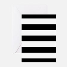 Black & White Stripes Greeting Cards