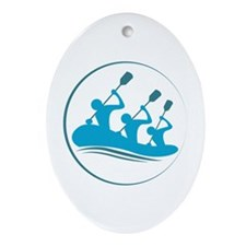 River Rafting Ornament (Oval)