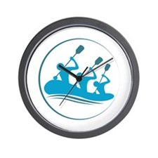 River Rafting Wall Clock