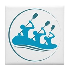 River Rafting Tile Coaster