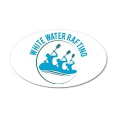White Water Rafting Wall Decal
