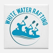 White Water Rafting Tile Coaster