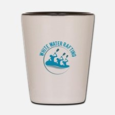 White Water Rafting Shot Glass