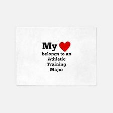 My Heart Belongs To An Athletic Training Major 5'x