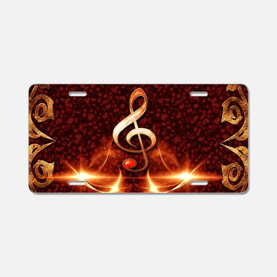 Decorative clef Aluminum License Plate