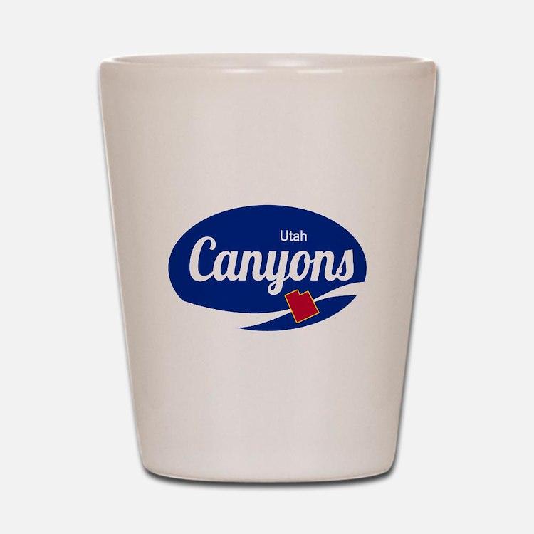 The Canyons Ski Resort Utah Oval Shot Glass