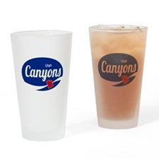The Canyons Ski Resort Utah Oval Drinking Glass