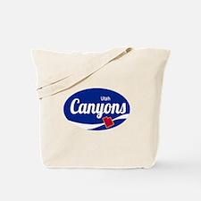 The Canyons Ski Resort Utah Oval Tote Bag