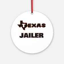 Texas Jailer Ornament (Round)