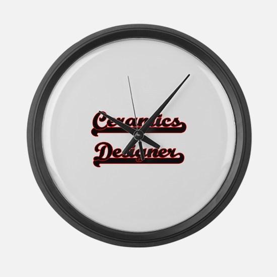 Ceramics Designer Classic Job Des Large Wall Clock