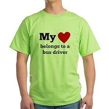 My Heart Belongs To A Bus Driver T-Shirt
