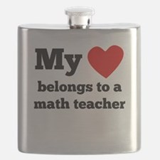 My Heart Belongs To A Math Teacher Flask
