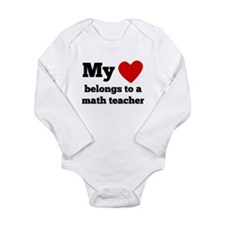 My Heart Belongs To A Math Teacher Body Suit