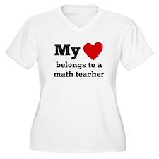My Heart Belongs To A Math Teacher Plus Size T-Shi