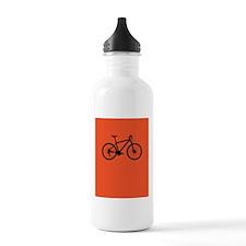 Bike on Red Water Bottle