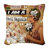 Steel magnolia Woven Pillows