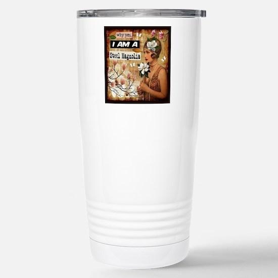 Steel Magnolia Stainless Steel Travel Mug