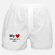 My Heart Belongs To A Pilot Boxer Shorts