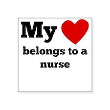 My Heart Belongs To A Nurse Sticker