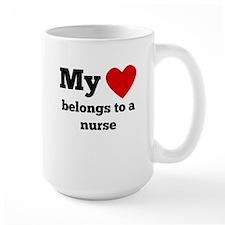 My Heart Belongs To A Nurse Mugs