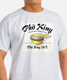Pho King 24-7 Ash Grey T-Shirt