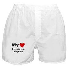My Heart Belongs To A Lifeguard Boxer Shorts