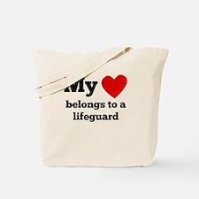 My Heart Belongs To A Lifeguard Tote Bag