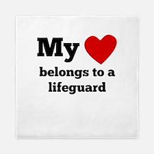 My Heart Belongs To A Lifeguard Queen Duvet