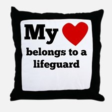 My Heart Belongs To A Lifeguard Throw Pillow