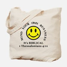 Mind Your Own Business, It's BIBLICAL 2 Tote Bag