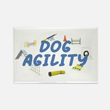 Dog Agility Rectangle Magnet