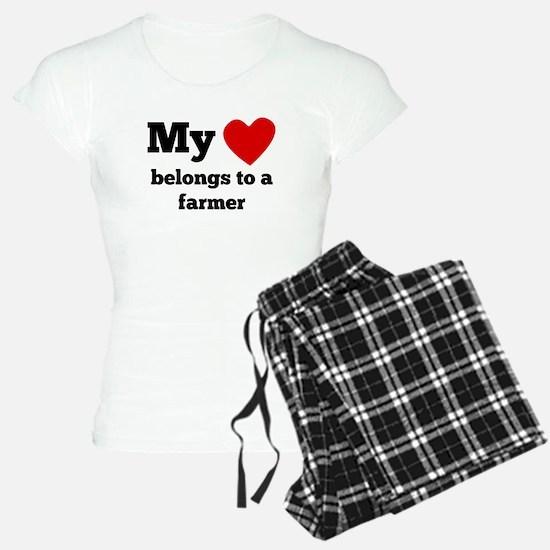 My Heart Belongs To A Farmer Pajamas