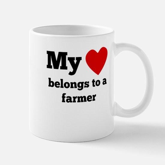 My Heart Belongs To A Farmer Mugs