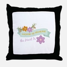 Where Heart Is Throw Pillow