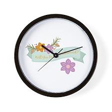 Bridesmaid Wall Clock