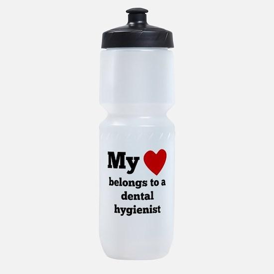 My Heart Belongs To A Dental Hygienist Sports Bott