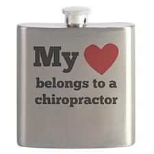 My Heart Belongs To A Chiropractor Flask
