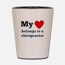 My Heart Belongs To A Chiropractor Shot Glass