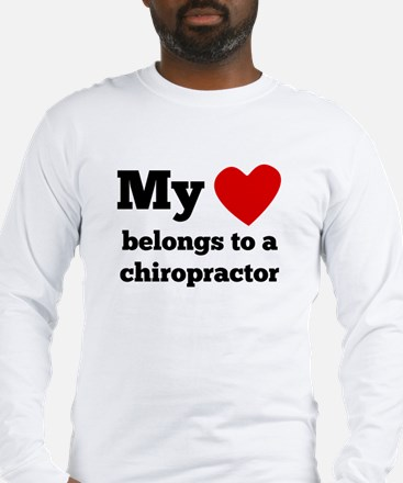 My Heart Belongs To A Chiropractor Long Sleeve T-S