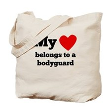 My Heart Belongs To A Bodyguard Tote Bag